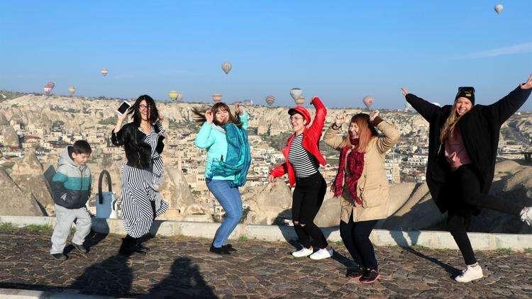 Kapadokya'da turizmcilerin yüzü gülüyor