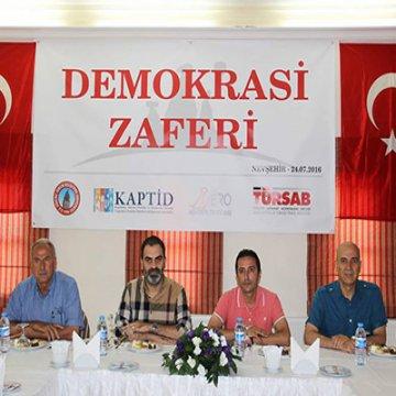 """Kapadokya Turizm Sivil Toplum Kuruluşları ortak basın açıklaması: """"Demokrasi zaferi"""""""